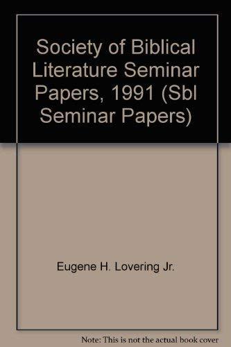9781555406240: Society of Biblical Literature Seminar Papers