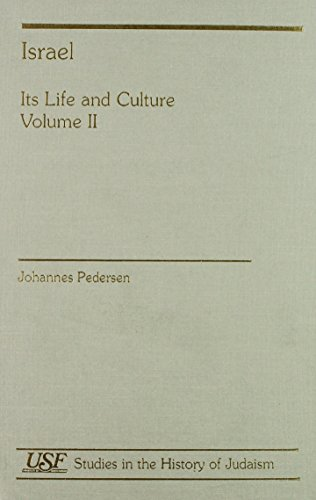 9781555406448: Israel: Its Life and Culture (Studies in the History of Judaism)