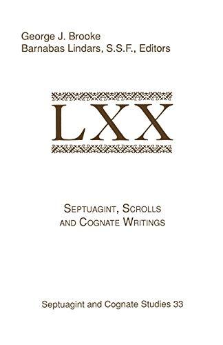 9781555407070: Septuagint, Scrolls, and Cognate Writings (Brown Judaic Studies)