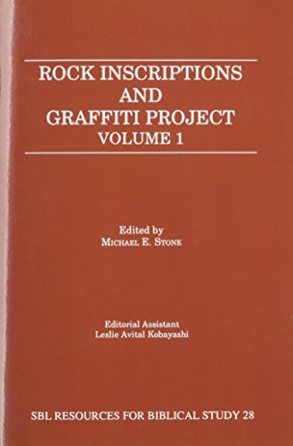 9781555407902: Rock Inscriptions and Graffiti Project (Resources for Biblical Study)