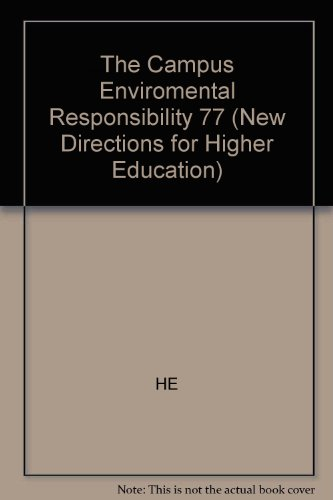 9781555427535: The Campus and Environmental Responsibility (J-B HE Single Issue Higher Education)