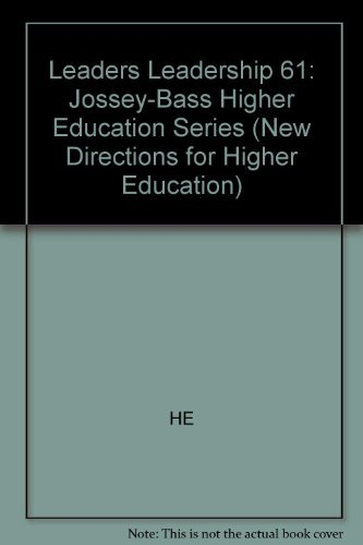 9781555429188: Leaders on Leadership: The College Presidency (New Directions for Higher Education)
