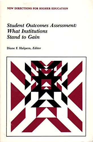9781555429492: Student Outcomes Assessment: What Institutions Stand to Gain (New Directions for Higher Education, Jossey Bass) (No 59)