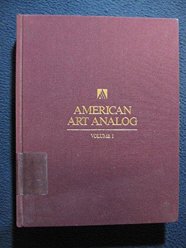American Art Analog Volume 1: 1688-1842: Michael David Zellman