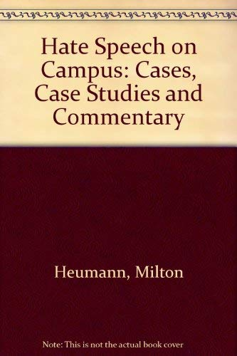 9781555532918: Hate Speech On Campus: Cases, Case Studies, and Commentary