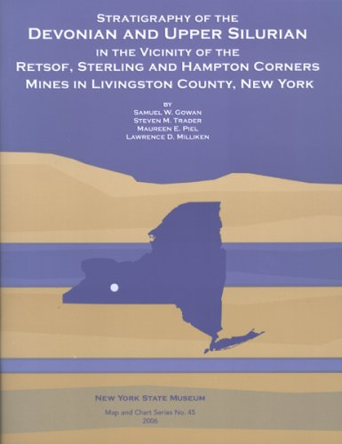9781555572310: Stratigraphy of the Devonian and Upper Silurian in the Vicinity of the Retsof, Sterling, and Hampton Corners Mines in Livingston County, New York