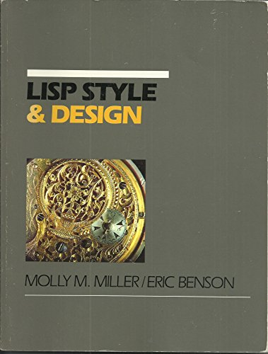 9781555580445: LISP: Style and Design