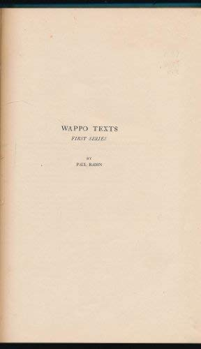 9781555672355: WAPPO TEXTS, First Series
