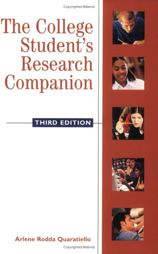 9781555704773: The College Student's Research Companion, Third Edition