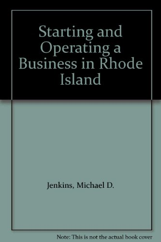 9781555711450: Starting and Operating a Business in Rhode Island