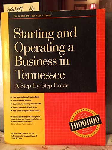 Starting and Operating a Business in Tennessee: Michael D. Jenkins,