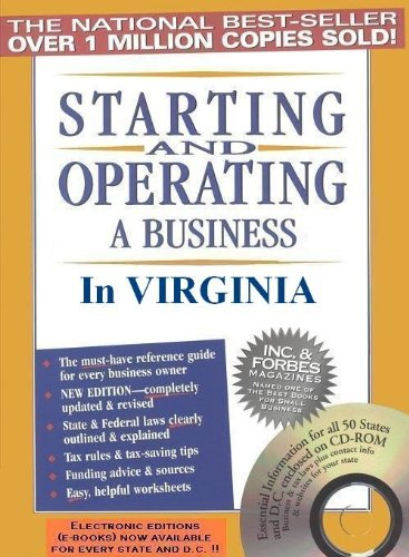 Starting and Operating a Business in Virginia: Jenkins, Michael D.,