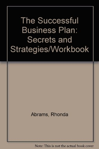 9781555711818: The Successful Business Plan: Secrets and Strategies/Workbook