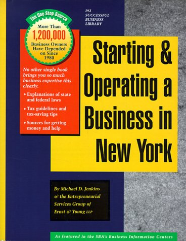 Starting and Operating a Business in New: Michael D. Jenkins,