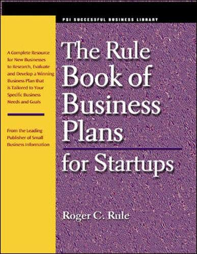 Rulebook of business plans for startups