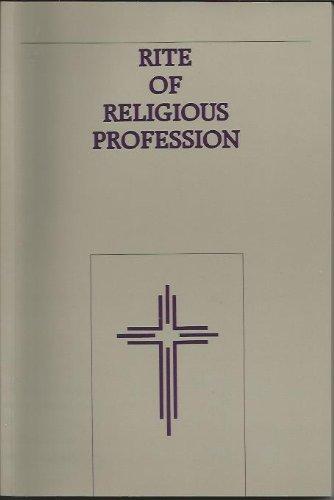 Rite of Religious Profession: The Roman Ritual (Publication): Sacred Congregation for Divine ...