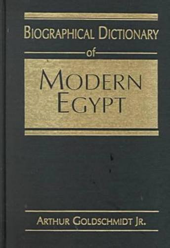 9781555872298: Biographical Dictionary of Modern Egypt