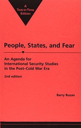 9781555872823: People, States, and Fear: An Agenda for International Security Studies in the Post-Cold War Era
