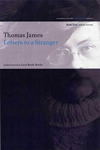 9781555975029: Letters to a Stranger: Poems (Re/View)