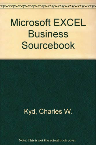 9781556151330: Microsoft Excel Business Sourcebook: An Essential Library of More Than 100 Practical Business Applications