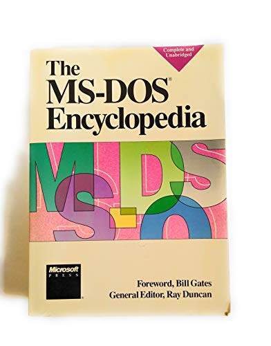 MS-DOS Encyclopedia (1556151748) by Ray Duncan