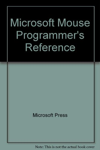 9781556153365: Microsoft Mouse Programmer's Reference