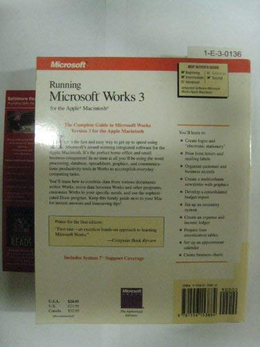 Running Microsoft Works 3 for the Apple Macintosh (9781556153884) by Charles Rubin