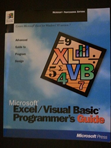 Microsoft Excel - Visual Basic Programmer's Guide: Microsoft Official Academic