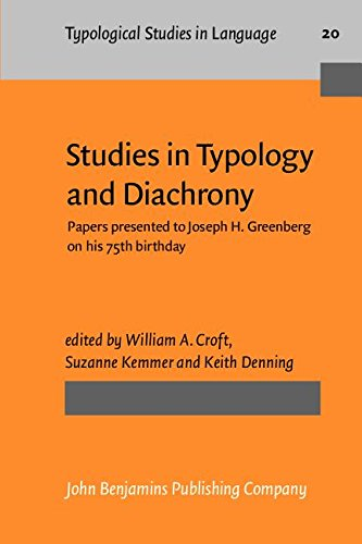9781556190995: Studies in Typology and Diachrony: Papers presented to Joseph H. Greenberg on his 75th birthday (Typological Studies in Language)