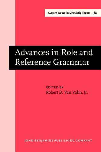 9781556191374: Advances in Role and Reference Grammar (Current Issues in Linguistic Theory)