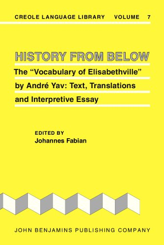 "9781556191602: History from Below: The ""Vocabulary of Elisabethville"" by André Yav: Text, Translations and Interpretive Essay"
