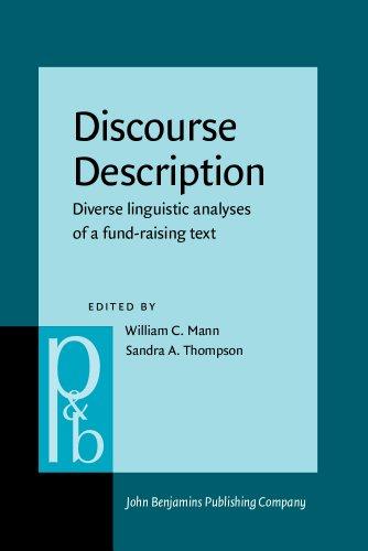 9781556192821: Discourse Description: Diverse linguistic analyses of a fund-raising text (Pragmatics & Beyond New Series)