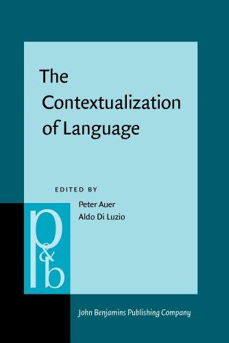 9781556192906: The Contextualization of Language (Pragmatics & Beyond New Series)