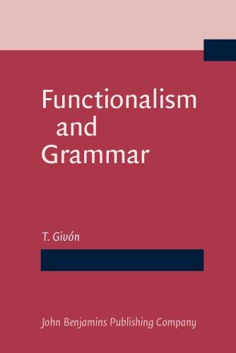 9781556195006: Functionalism and Grammar