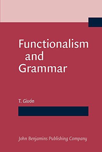 9781556195013: Functionalism and Grammar
