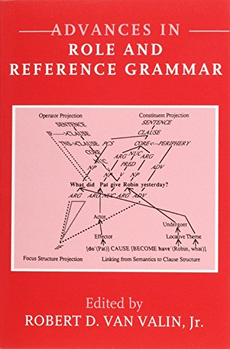 9781556195525: Advances in Role and Reference Grammar (Current Issues in Linguistic Theory)