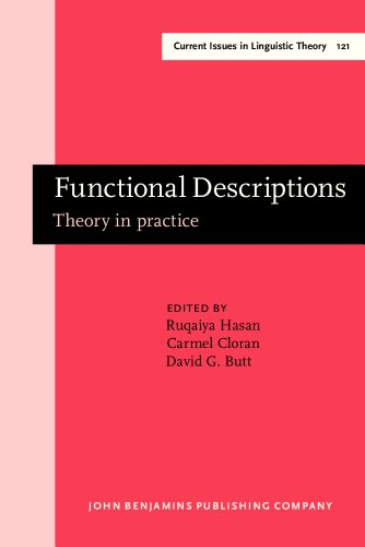 9781556195754: Functional Descriptions: Theory in practice (Current Issues in Linguistic Theory)