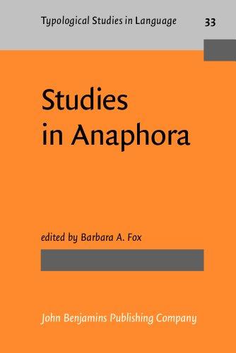 Studies in Anaphora (Typological Studies in Language)