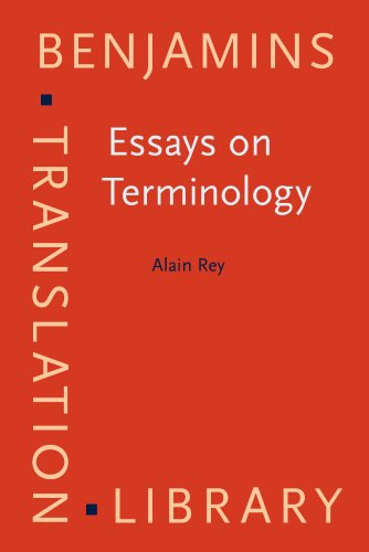 9781556196881: Essays on Terminology (Benjamins Translation Library)