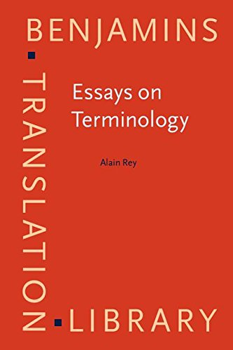 9781556196898: Essays on Terminology (Benjamins Translation Library)