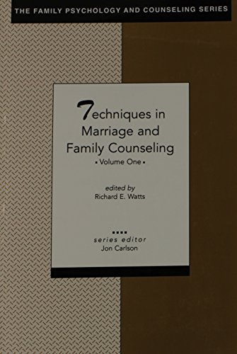 9781556202117: Techniques in Marriage and Family Counseling, Vol. 1 (The Family Psychology and Counseling Series)