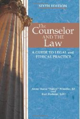 9781556203152: Counselor and the Law A Guide to Legal and Ethical Practice