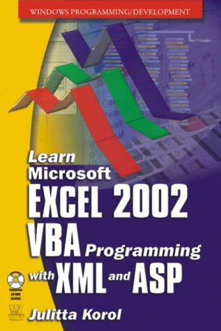 9781556227615: Learn Microsoft Excel 2002: VBA Programming with XML and ASP