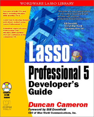 9781556229619: Lasso Professional 5 Developer Guide (Wordware Lasso Library)