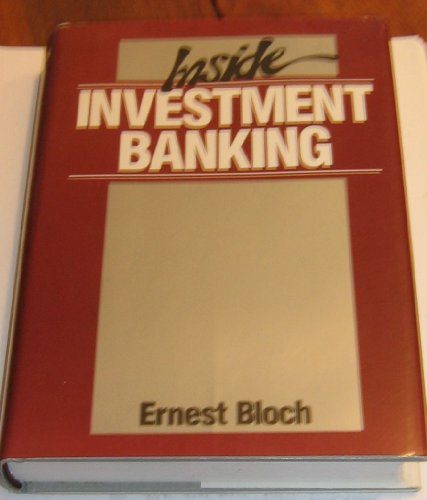 9781556231285: Inside Investment Banking