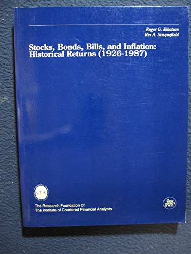 9781556232312: Stocks, Bonds, Bills and Inflation: Jistorical Returns (1926-1987)