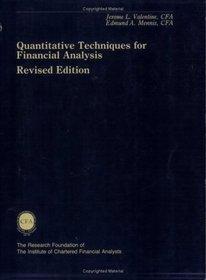 Quantitative Methods for Financial Analysis: Brown, Stephen J ; Institute Of