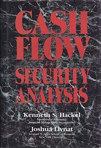 9781556233876: Cash Flow and Security Analysis