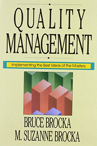 QUALITY MANAGEMENT: IMPLEMENTING THE BEST IDEAS OF THE MASTERS.