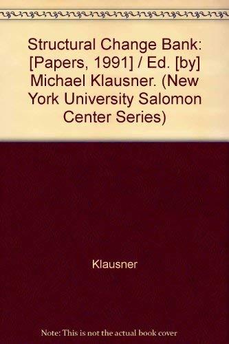 9781556236006: Structural Change in Banking (New York University Salomon Center Series)